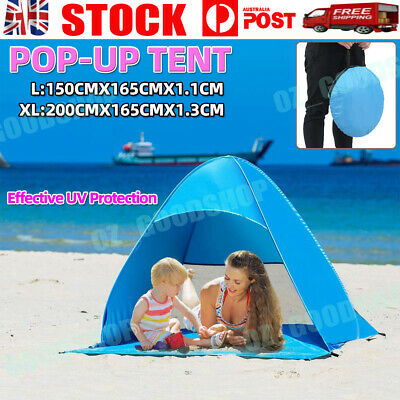 AU32.88 • Buy Portable Pop Up Beach Canopy Sun Shade Shelter Outdoor Camping Fishing Tent Mesh