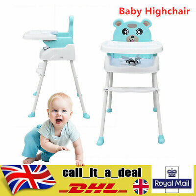 Baby Kids Toddler Infant High Chair Feeding Recliner Seat Chair Adjustable New • 25.45£