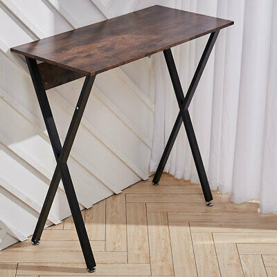 Breakfast Bar Bistro Table Industrial Rustic Wood Metal Leg Tall Dining Table • 83.94£