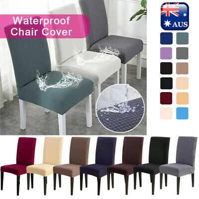 AU15.40 • Buy Dining Chair Covers Washable Stretch Chair Slipcover Removable Chair Protector