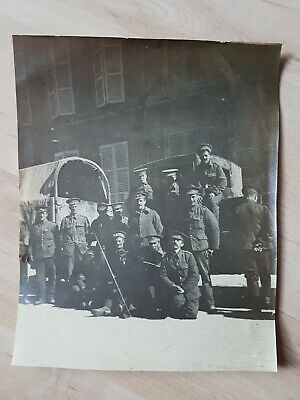 WW1 BRITISH SOLDIERS, MILITARY TRUCKS. ORIGINAL WW1 PHOTO 14x11cm • 2.99£