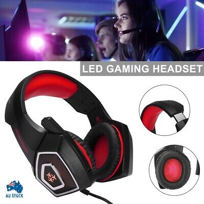 AU19.99 • Buy Gaming Headset MIC LED Headphones Surround Earphones For PC Laptop PS4 Xbox One