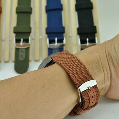$3.04 • Buy Nylon Wristwatch Straps Watch Band Military Canvas Buckle Strap 18/20/22/24mm