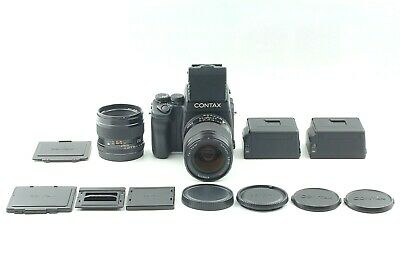 $ CDN7961.68 • Buy 【 Mint 2LENS】 CONTAX 645 + Taille Level Finder + 80mm 45mm + 2 Film Hintere
