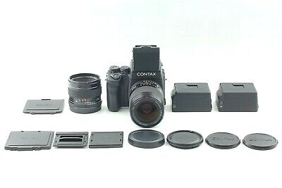 $ CDN7643.32 • Buy 【 Mint 2LENS 】CONTAX 645 + Cintura Nivel Visor + 80mm 45mm + 2 Film Espalda