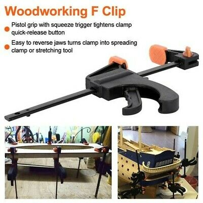 AU12.50 • Buy 2 X 910mm Wood Working Bar F Clamp Clamps Grip Ratchet Quick Release Fixed TR