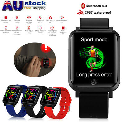 AU17.39 • Buy Bluetooth Smart Watch Heart Rate Blood Pressure Body Temperature For IOS Android