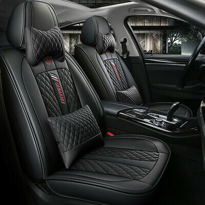 $ CDN174.83 • Buy Universal Deluxe 5-Seats Car Seat Cover Front Rear PU Leather Cushion Full Set