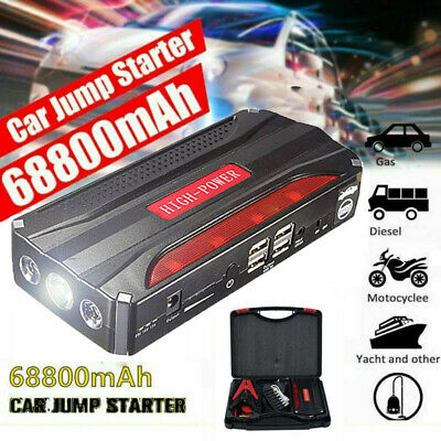 View Details 68800mAh Car Jump Starter Booster Pack Portable Battery Charger Bank Power 600A • 43.99£