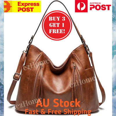 AU36 • Buy 💯SELECTED Women Soft Leather Handbag Shoulder Bag Large Tote Elegant Hobo Bags