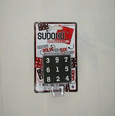 Sudoku On A Puzzle Cube Six Sided 3X3 Brain Teaser Great Christmas Gift Idea • 4.94£