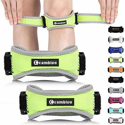 $26.10 • Buy CAMBIVO Patella Knee Strap, 2 Pack Knee Brace With 2 Extra Straps, (Green)
