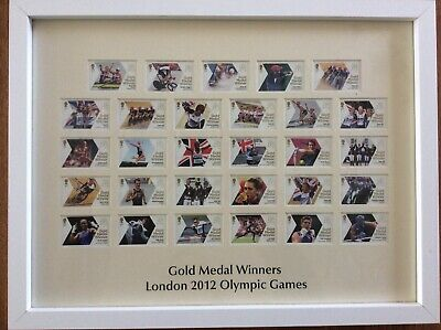 £65 • Buy London 2012 Olympics GB Gold Medal Winners Framed Stamps