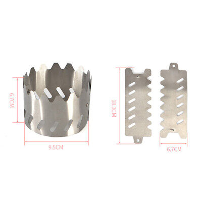 AU11.25 • Buy Supplies Stove Bracket 9.5*6.7cm Portable Stand 2pcs BBQ Burner Camping Cooking