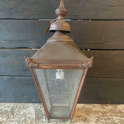 Reclaimed Victorian Lamp Post Top Copper • 78£