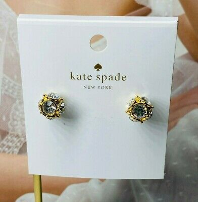 $ CDN7.64 • Buy Kate Spade Crystal & White Pearl Drop Earrings