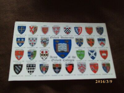 Arms Of The Oxford Colleges.Oxford University.J.Salmon.Very Good Condition.Unpos • 1.99£