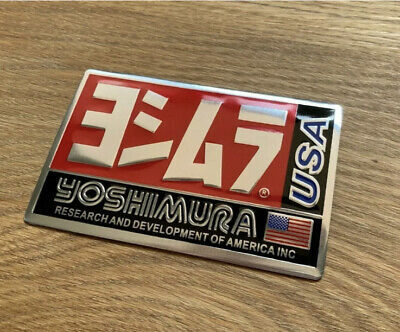 Yoshimura Usa 3d Heatproof Exhaust Badge Sticker Graphic Decal Silencer Metal • 4.90£