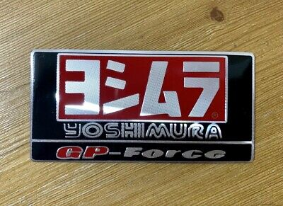 Yoshimura Gp Force 3d Heatproof Exhaust Badge Sticker Graphic Decal Silencer • 3.25£