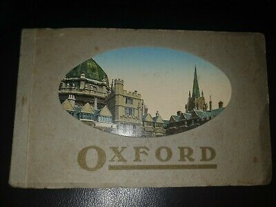 Book Of 9 Coloured Postcards Of Oxford - Colleges, Church And Theatre. • 10£