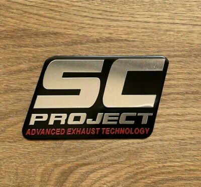 SC PROJECT 3D Exhaust Heat Proof 100mm Aluminium Sticker Decal Motorcycle • 4.75£