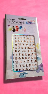 £2.71 • Buy Rose Gold Gothic Lettering Metallic Nail Art Stickers Transfers Decals