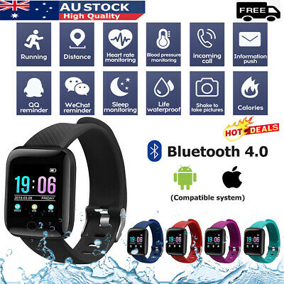 AU12.39 • Buy Smart Watch Waterproof Heart Rate Fitness Tracker Bracelet For IPhone Samsung