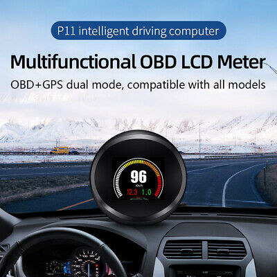 P11 Car HUD GPS OBD Head Up Display Auto Water Temp RPM Overspeed Alarm System • 31.98£