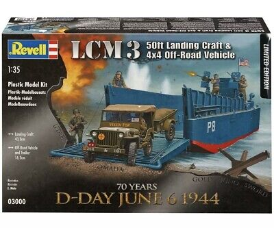 Maquette Revell Lcm 3 D-day Landing Craft + Jeep Off Road Vehicle  1/35 Model • 35.32£