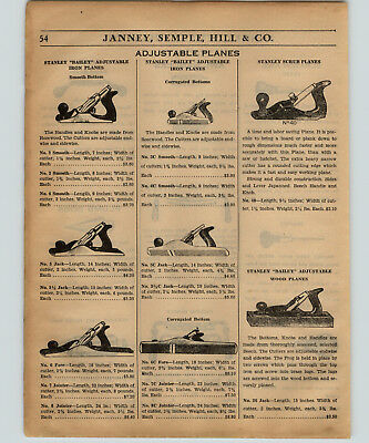 1934 PAPER AD 8 PG Stanley Bailey Planes Block Bench Parts Repair Price Lists • 28.71£