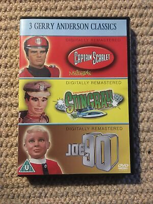 3 Gerry Anderson Classics DVD Box Set - Captain Scarlet - Stingray - Joe 90 *VGC • 5£