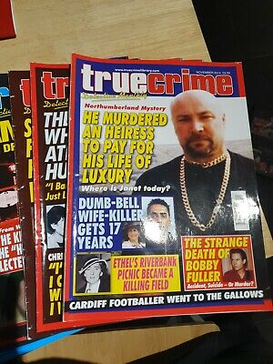 True CRIME  DETECTIVE MONTHLY  ..9 Issues..NOV 2014 TO JULY 2015. • 3.20£