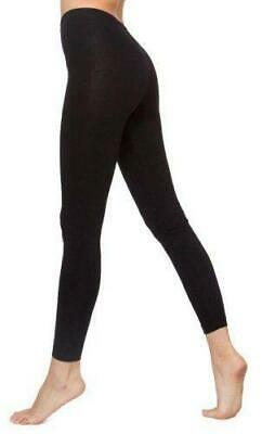 New Ladies Full Length Plain Black Cotton Leggings Plus Skinny Fit Sizes UK10-30 • 5.98£