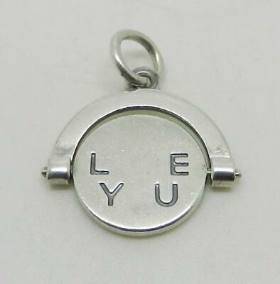 James Avery Retired Sterling Silver I Love You Spinner Charm - Rare - Lb-c1839 • 99.42£