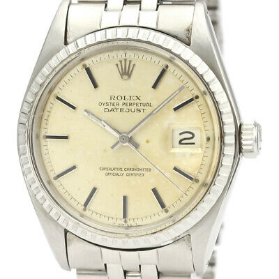 $ CDN4969.62 • Buy Vintage ROLEX Datejust 1603 Stainless Steel Automatic Mens Watch BF523960