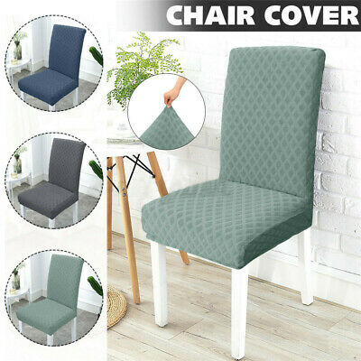 AU16.99 • Buy Dining Chair Seat Covers Spandex Slip Banquet Home Protective Stretch Modern