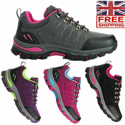 Women's Hiking Boots Walking Wide Fit Trail Trekking Trainers Shoes Size 2020 • 26.99£