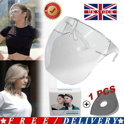 Safety Face Shield Protective Facial Cover Transparent Glasses Visor PPE Mask😷 • 6.59£