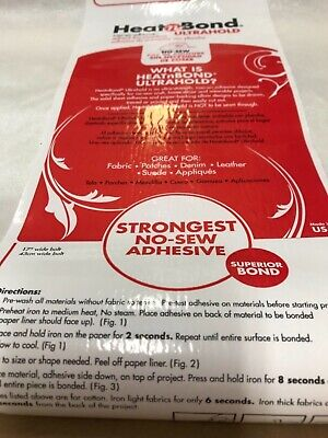£4.95 • Buy Heat N Bond Ultra Hold By  1 Metre Piece - Non Sewable Strong Adhesive Sheet
