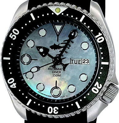 $ CDN125.06 • Buy Vintage SEIKO 6309 Diver Mod W/all Black Fishbone On Grey Mother Of Pearl Dial