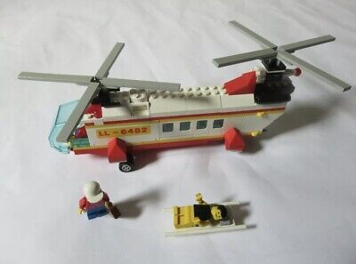 Lego Town – 6482 Rescue Helicopter – Complete – Vintage Set - 1989 • 24.99£