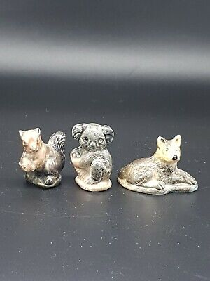 £10 • Buy 3 Vintage Wade Whimsies. Squirrel, Wolf And Koala.