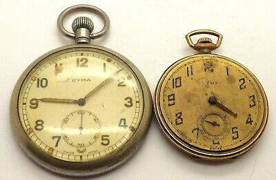 2 Antique Cyma Pocket Watches For Spares Or Repairs  • 73.63£