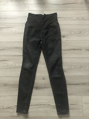 H&M Mama Maternity Jeans Size 8  Black Skinny Fit , Over Bump • 1.50£