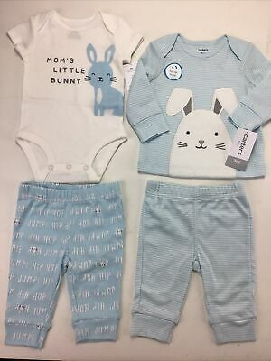 £16.66 • Buy Lot Of 2 Baby Boy Easter, Spring Outfits.  Size 3 Months,  Carter's. Moms Bunny.
