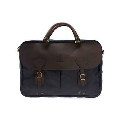 £129 • Buy Barbour Wax And Leather Briefcase Navy Bag Messenger One Size