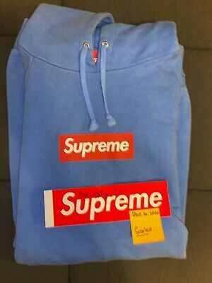 $ CDN950 • Buy RARE (vintage) Supreme Box Logo Hoodie Red On Teal - VNDS Authentic XL