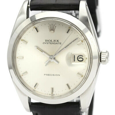 $ CDN2504.35 • Buy Vintage ROLEX Oyster Date Precision 6694 Steel Hand-winding Mens Watch BF525110