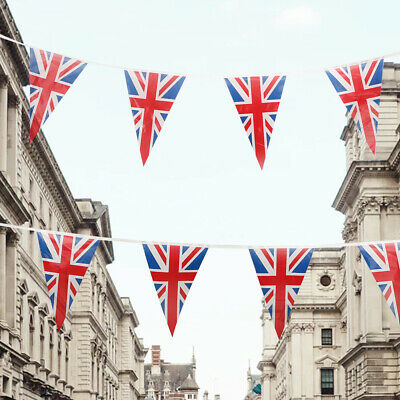 24Meter Bunting UK Fabric Flag Union Jack Banner British Party Supplies Hot • 4.99£