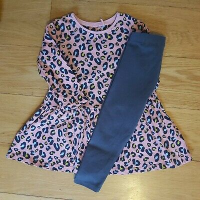 NEXT Baby Girls Outfit Set Lepord Print Pink Size 1.5-2 Years  • 3.50£